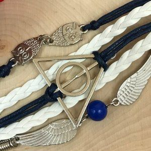 1-Bracelet Harry Potter Deathly Hallows Layered.